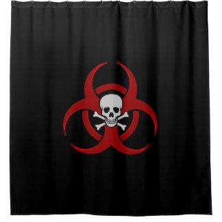 Red Biohazard Skull and Crossbones