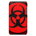 Red Biohazard Symbol iPod Case