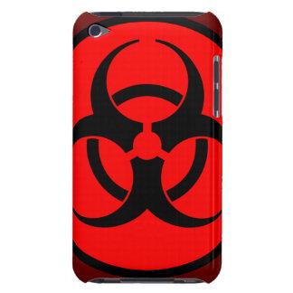 Red Biohazard Symbol iPod Case