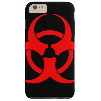 Red Biohazard Symbol Phone Case