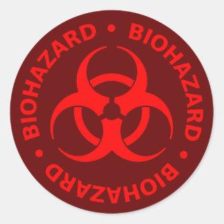 Red Biohazard Symbol Sticker