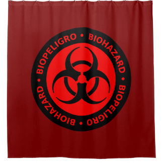 Red Biohazard Warning Sign