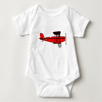Red Biplane Baby Bodysuit