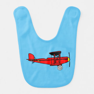 Red Biplane Bib