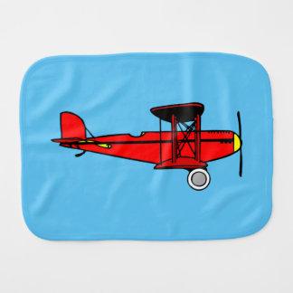 Red Biplane Burp Cloth