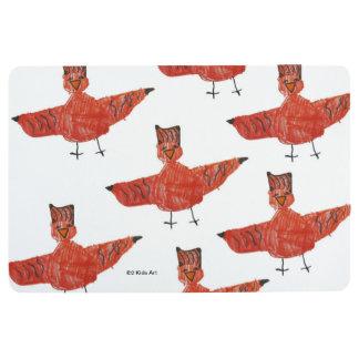 Red Bird Bath Mat