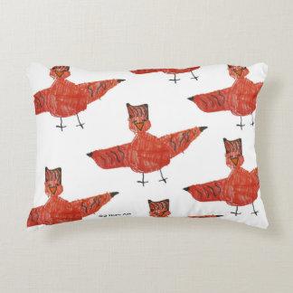 Red Bird Brushed Fleece Pillow