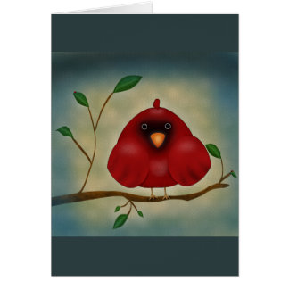 Red Bird Cardinal Card