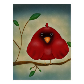 Red Bird Cardinal Postcard