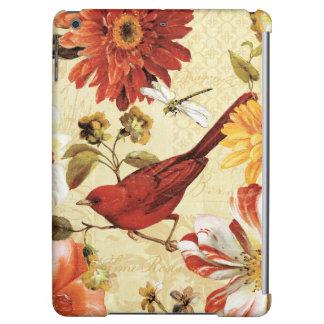 Red Bird in a Flower Garden iPad Air Covers