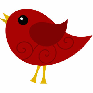 Red Bird Photo Sculpture Ornament