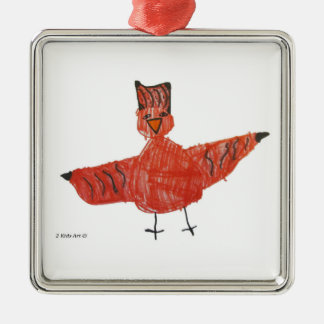 Red Bird Premium Ornament