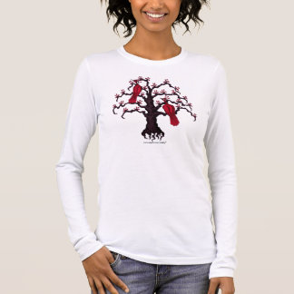 Red birds on tree graphic art cool hoodie design