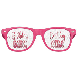 Red Birthday Girl Text Party Shades