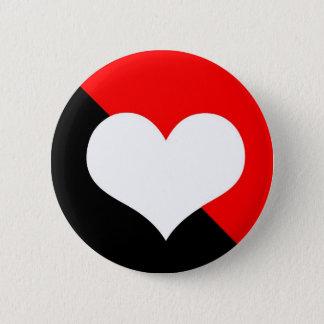 Red & Black 2 Inch Round Button