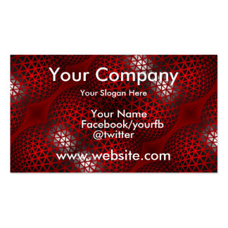 Red Black Abstract Pack Of Standard Business Cards