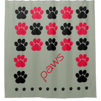 Red, Black and Gray Paw Print
