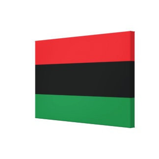 Red, Black and Green Flag Stretched Canvas Prints