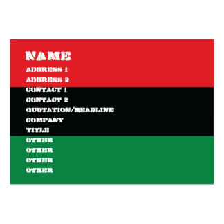 Red, Black and Green Flag Large Business Card