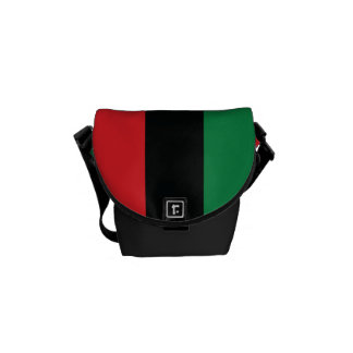 Red, Black and Green Flag Messenger Bag