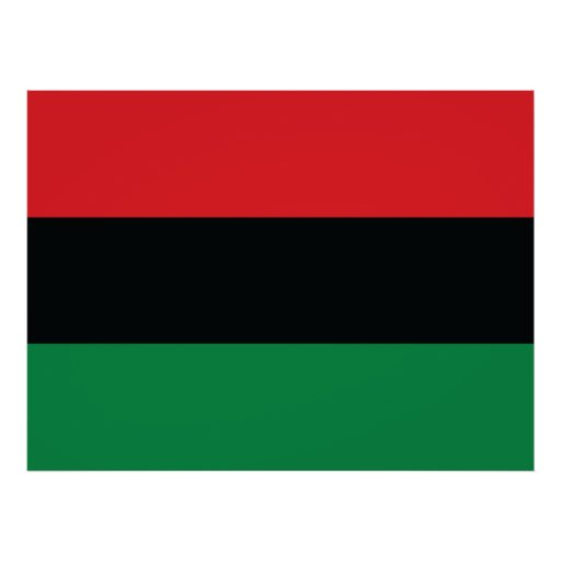 Red, Black and Green Flag Poster