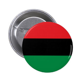 Red Black and Green Pan-African UNIA flag 2 Inch Round Button