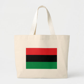 Red Black and Green Pan-African UNIA flag Large Tote Bag