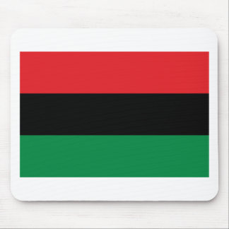 Red Black and Green Pan-African UNIA flag Mouse Pad