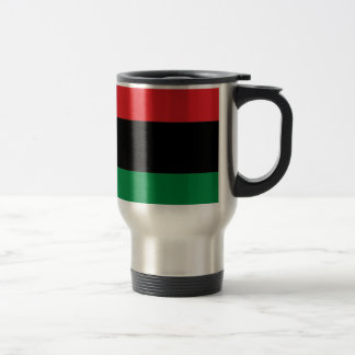 Red Black and Green Pan-African UNIA flag Travel Mug
