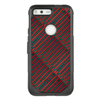 Red, Black and Grey Stripes Illusion OtterBox Commuter Google Pixel Case
