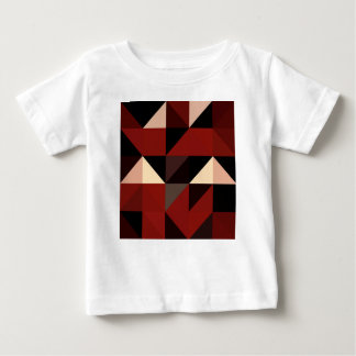 Red Black and Tan Geometrical Pattern Design Baby T-Shirt