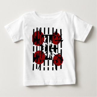 Red, black and white artistic pattern baby T-Shirt