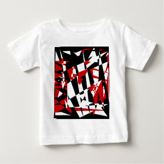 Red, black and white chaos baby T-Shirt