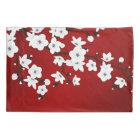 Red Black And White Cherry Blossom Pillowcase