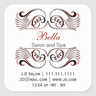 red, black and white Chic Business stickers