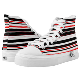 red black and white horizontal stripes