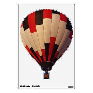 Red, Black and White Hotair Balloon Wall Sticker