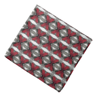 Red, Black and White Lens Pattern Bandana