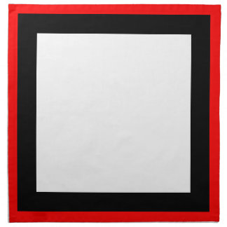 Red Black and White Napkins