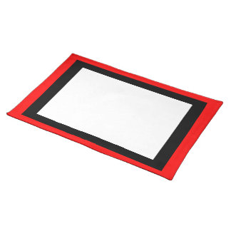 Red Black and White Placemat