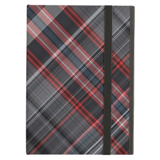 Red, black and white plaid iPad air cover