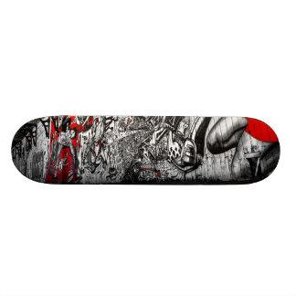 Red, Black and White Street Art Graffiti Skate Board Deck