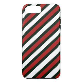 Red Black and White Stripes iPhone 7 Plus Case