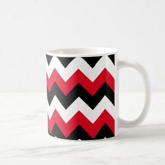 Red Black and White Zigzag Coffee Mug