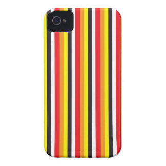 RED black and yellow stripes pattern iPhone 4 Cover