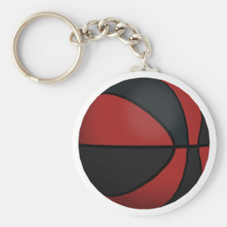 Red & Black Basketball: Keychain