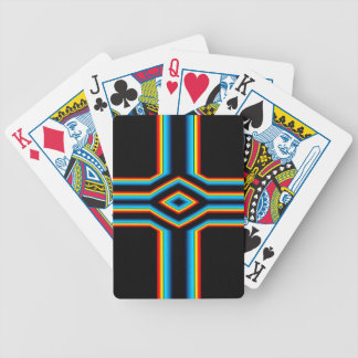 Red Black Blue Yellow Abstract Rainbow Neon Cross Bicycle Playing Cards