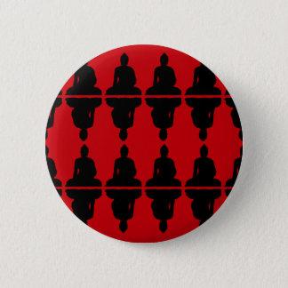 Red & Black Buddha 2 Inch Round Button