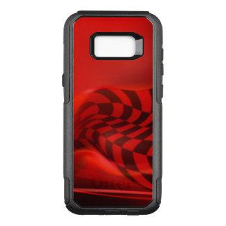 Red Black Checker Pattern Design OtterBox Commuter Samsung Galaxy S8+ Case