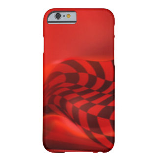 Red Black Checker Pattern Print Design Barely There iPhone 6 Case